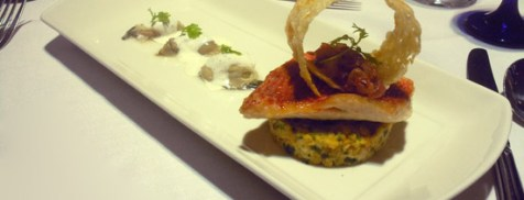 Pan seared fillet of red mullet