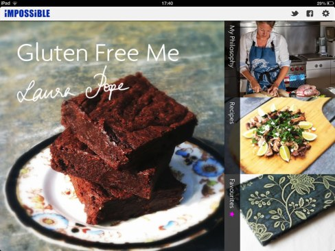 Gluten Free iPad App screenshot