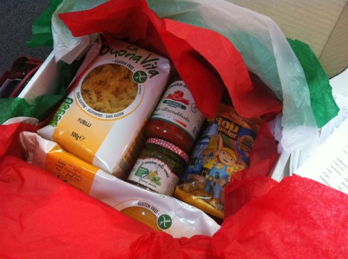 photo of the Free From Italy hamper