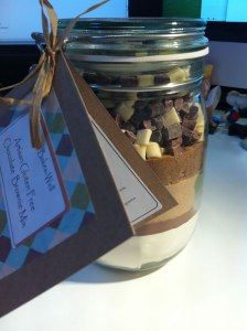 Gluten Free Chocolate Brownie Mix in a Jar