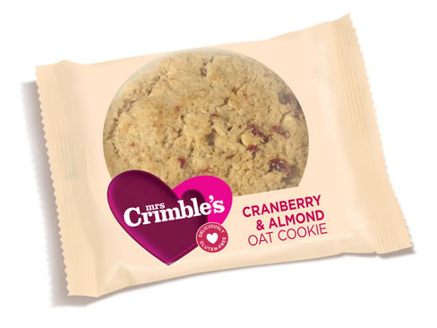 Mrs Crimble's Cranberry & Almond Oat Cookie