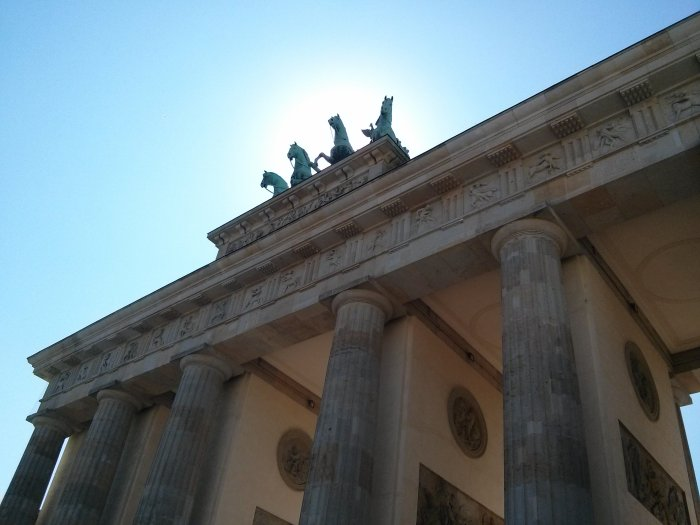 Brandenburg gate, gluten free Berlin