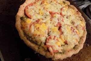 I review Simple Mills' gluten free pizza crust mix, made from almond flour. I also provide two ways to top your gluten free pizza!