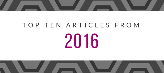 2016 in review: Top ten articles