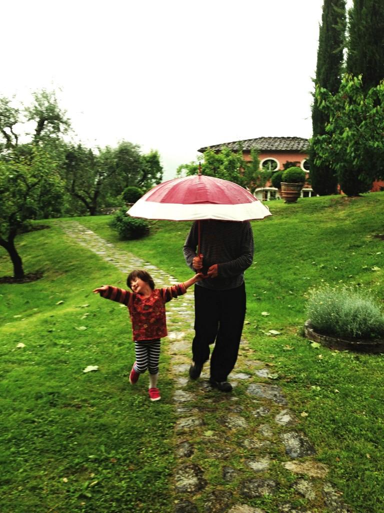Italian singing in the rain