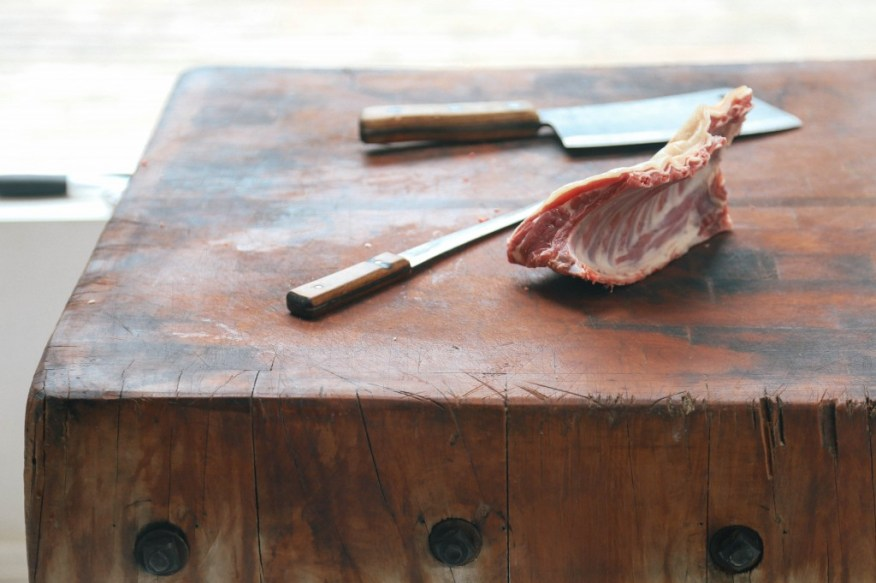 meat on the butcher block