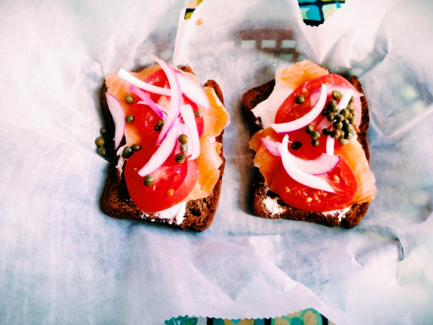 Providence- smoked salmon on bread