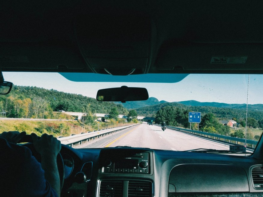Vermont- driving into the state