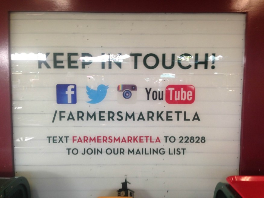 SB to LA- farmers' market social media