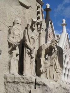 Part of Gaudi's Sacra Familia in Barcelona