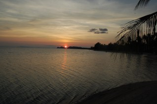 View from Dew Shores Bungalows in Koh Phangan, Thailand