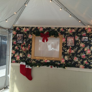 Warm up in the Hester Holiday Market movie tent