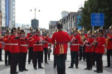 Marching band in Cardiff, Wales