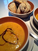 Soup and scones for lunch