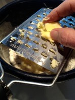 Grating in the butter