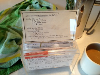 Hand typed recipe - still use the Aspenglas box I got in 1976 (but not the typewriter!)