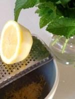 """""""Zesting"""" the lemon"""