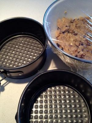 Tiny tart pans for the left over dough