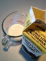 Measuring the buttermilk