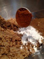 Adding the extra cinnamon to the leavening