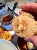 Melting artisan butter and honey