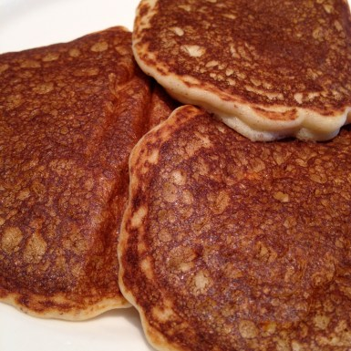 Four inch pancakes off the griddle