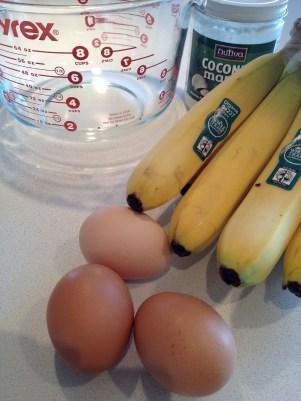 Farm fresh eggs and organic bananas