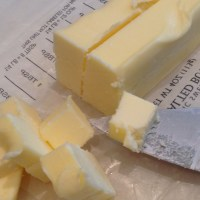Butter in pieces