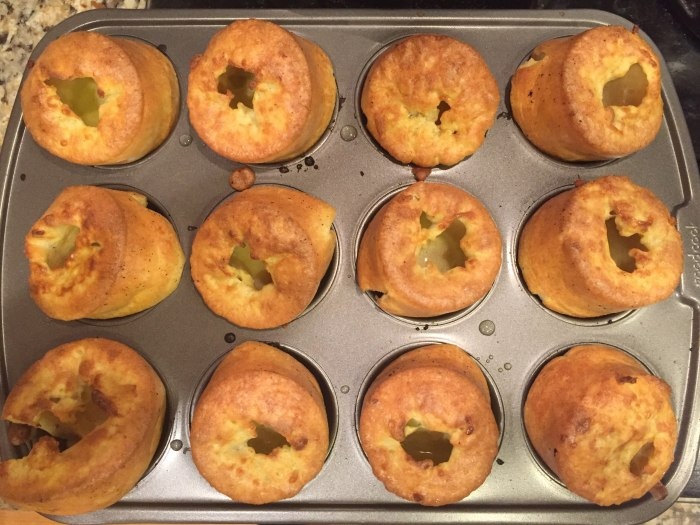 gluten free Yorkshire pudding in a muffin tin