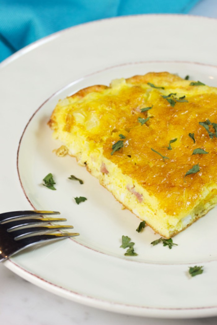 delicious gluten free frittata on a dish
