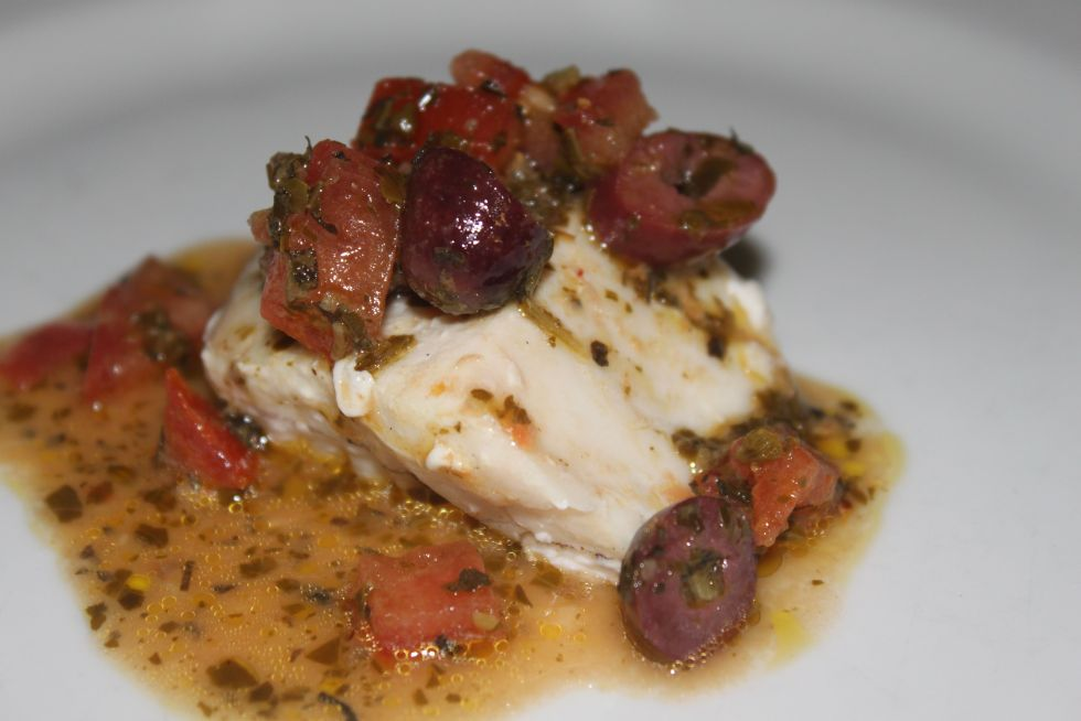 Gluten Free Simple Salsa Over Grilled Sword Fish