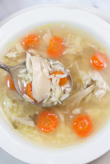 Homemade chicken soup in one hour. This is one of the easiest and nutritious recipes you'll ever make. #glutenfree #recipe #chickensoup by gluten free homestead