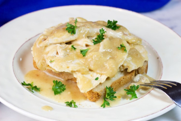 gluten free hot open turkey sandwich
