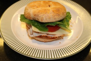 Turkey and Swiss Sandwich, gluten free, against the grain gluten free