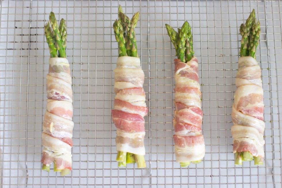appetizers on a rack ready to go into the oven