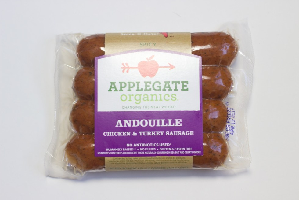 package of andouille chicken and turkey sausage