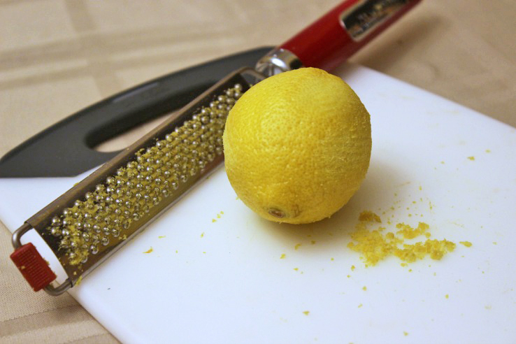 Lemon Zest For Salmon Cakes