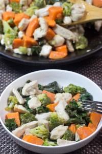 One-Pot, Paleo, Stir Fry, gluten free, chicken, kale, sweet potatoes, broccoli