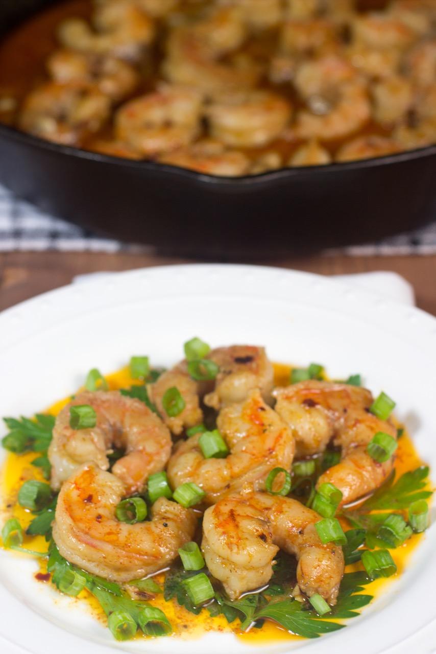 wild shrimp in coconut sauce