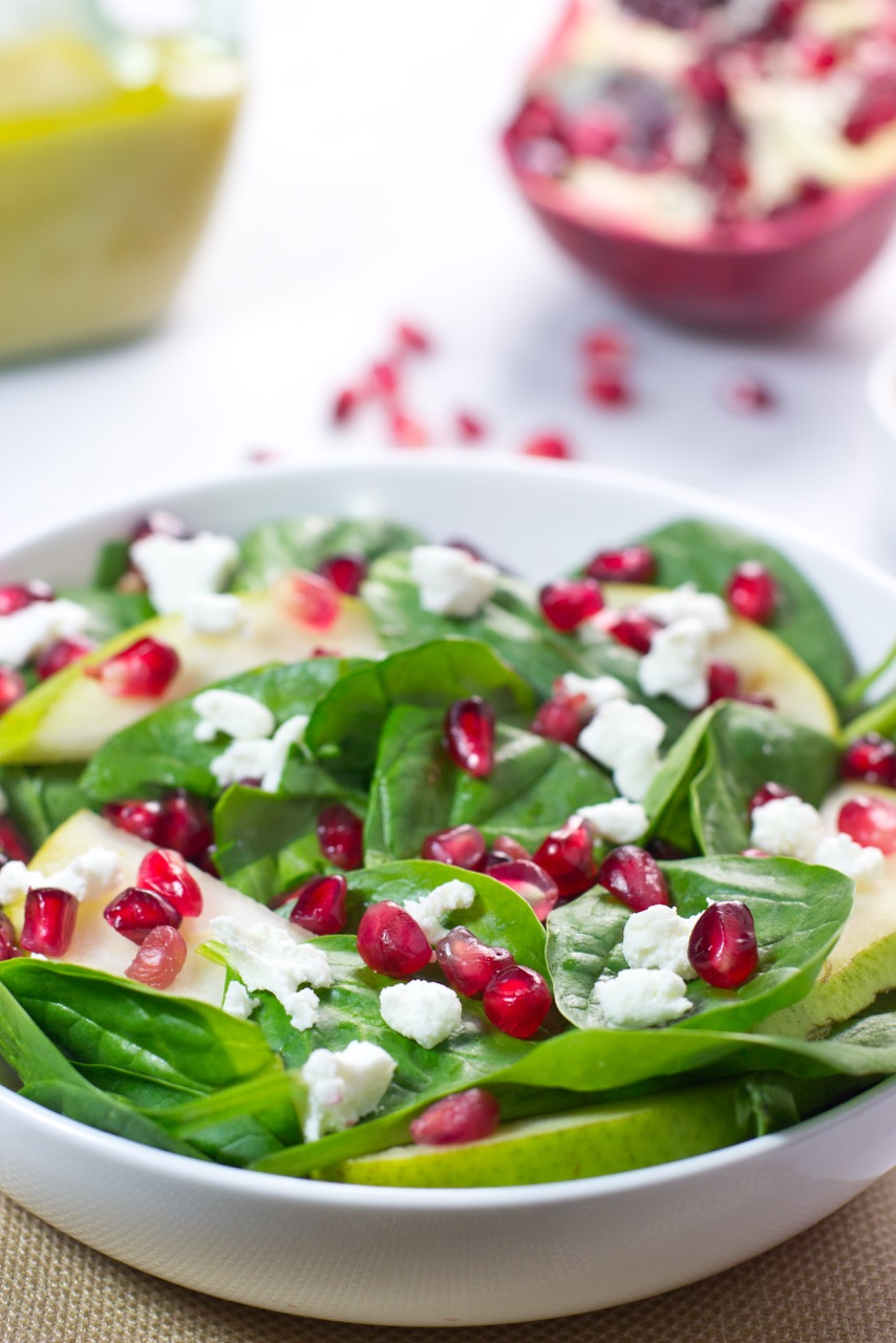 finished salad in a white bowl