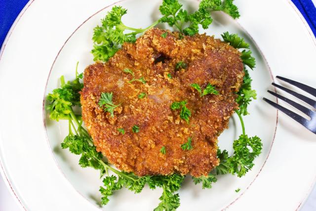 keto pork tenderloin crispy bites on a plate
