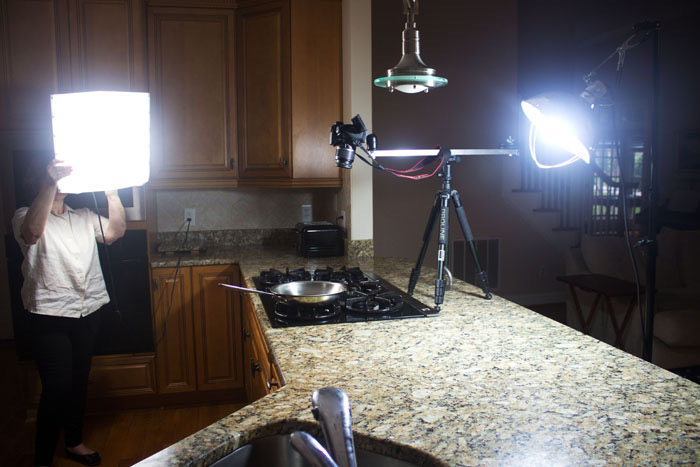 overhead video rig and lighting