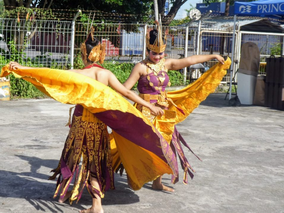 Balinese Dancers in the Port of Benoa