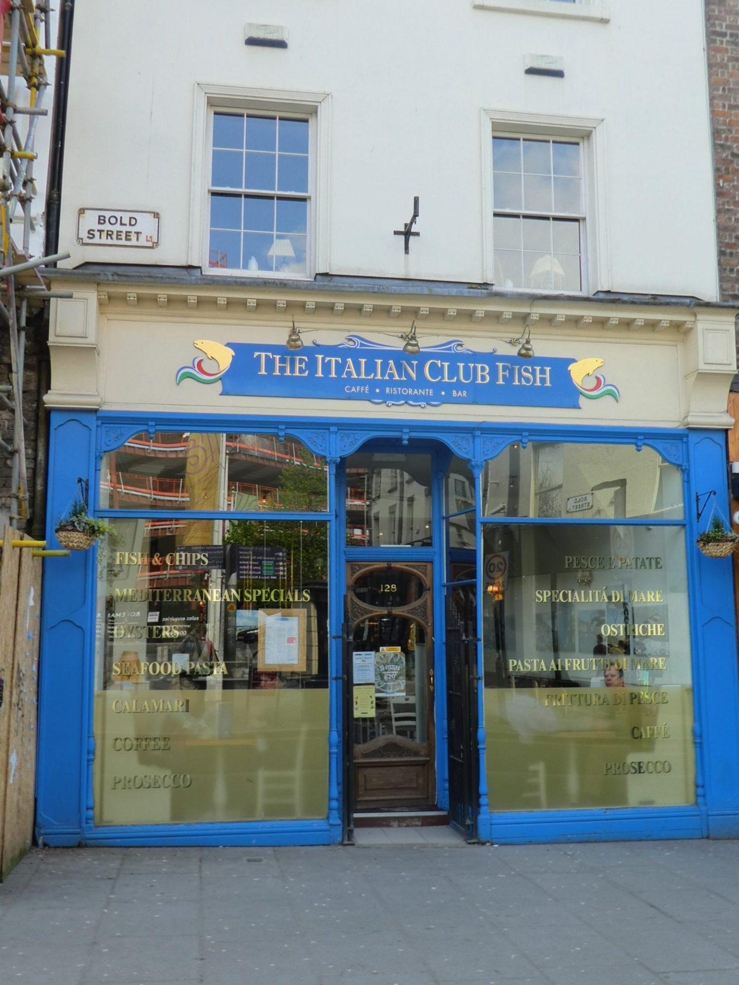 Review: Eating Gluten Free at The Italian Club Fish, Liverpool