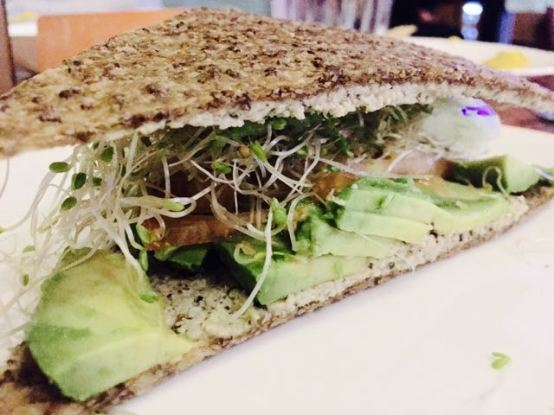 Really tasty and healthy Avocado Herb Sandwich. If all healthy foods tasted this good...