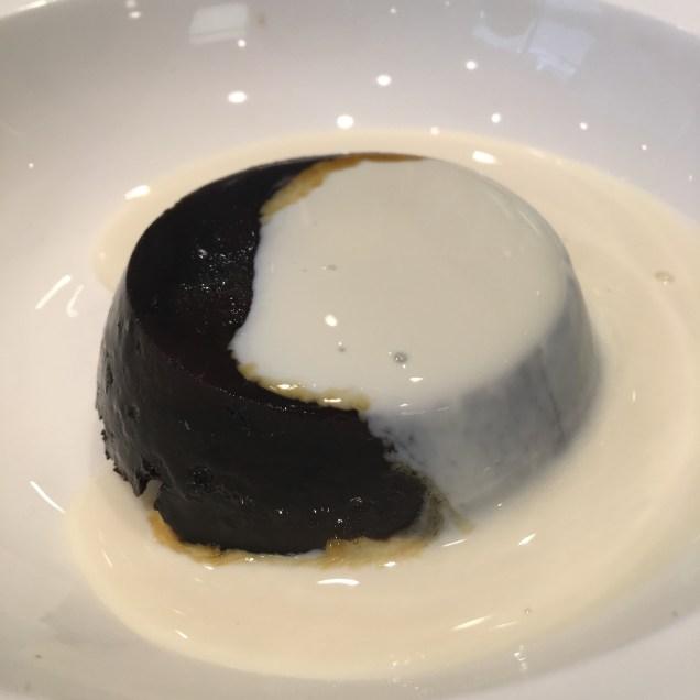 Dessert - Christmas pudding and soya cream