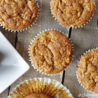 top down view of gluten free apple muffins