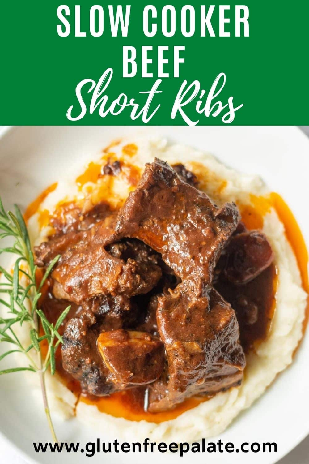 pinterest pin collage for slow cooker beef short ribs