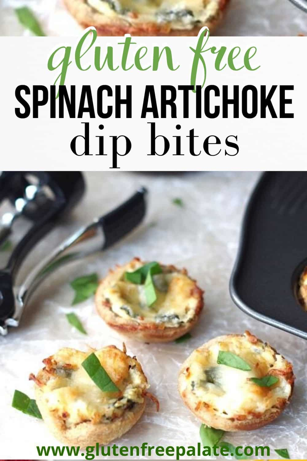 pinterest pin for spinach dip bites