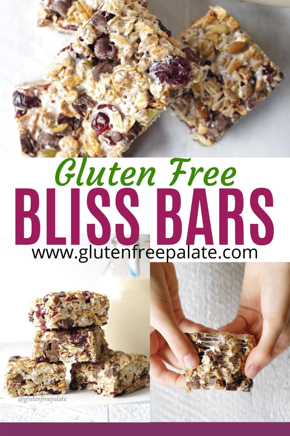 pinterest pin for bliss bars